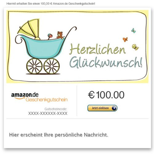 Amazon.de Gutschein per E-Mail (Glückwunsch zur Geburt)