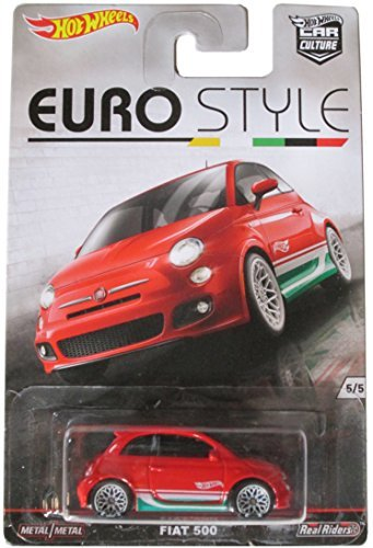 HOT WHEELS EURO STYLE RED FIAT 500 5/5 by Hot Wheels