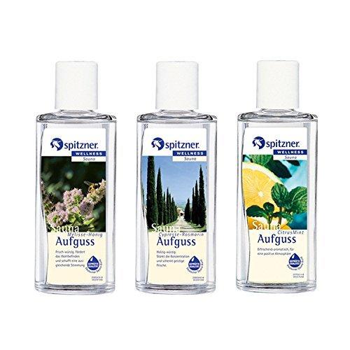 Preisvergleich Produktbild Saunaaufguss Körper & Geist: Cypresse-Rosmarin,  Melisse-Honig,  Citrus-Mint (3x190ml) von Spitzner