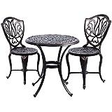 Ensemble meubles de jardin versailles blanc en fonte d for Table exterieur fonte