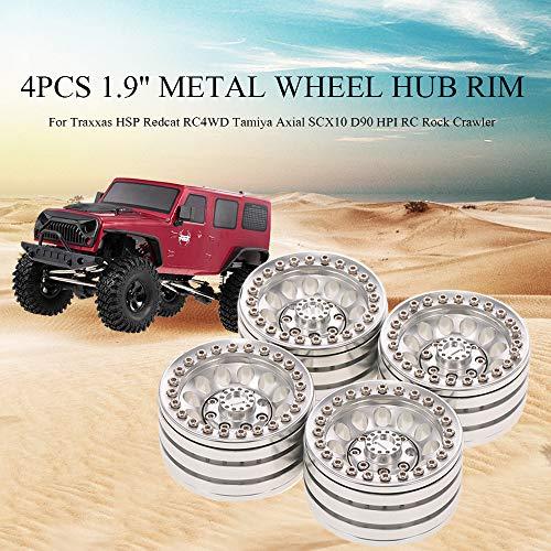 Leslaur 4 stücke 1,9 Zoll Radnabe Felge Metall für Traxxas HSP Redcat RC4WD Axial SCX10 D90 HPI RC Rock Crawler -