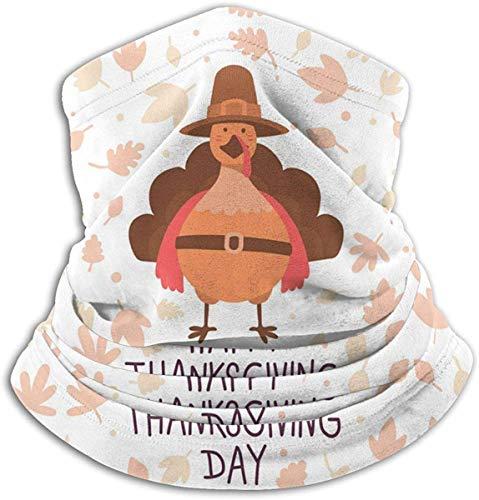congminbai Schlauchschal Herren,Halswärmer Warm Thanksgiving with Orange Turkey Bird in Brow Neck Gaiter Warmer Men Women Warm Windproof Neck Heating Wrap Windproof -