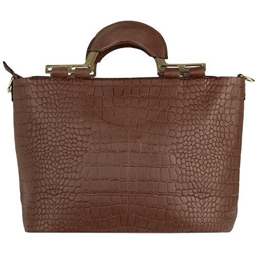 VanGoddy Street Level, Borsa a tracolla donna nero Black M Brown