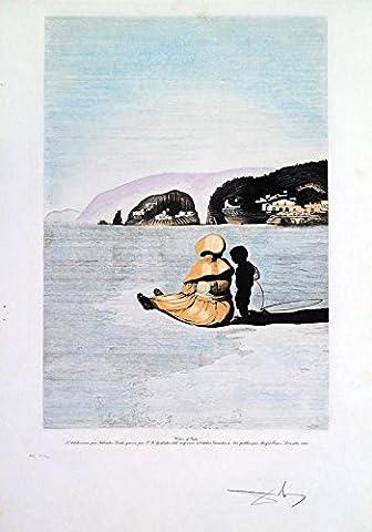 Salvador Dali–'Adolescence'–Signée et numérotée à la main Etching–C1940s (rare