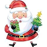 Folienballon - XXL Weihnachtsmann + PORTOFREI mgl + Geschenkkarte + Helium & Ballongas geeignet. High Quality Premium Ballons vom Luftballonprofi & deutschen Heliumballon Experten