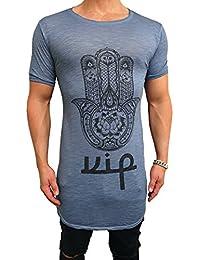 Deep Oversize Long Shirt Longshirt Swag symbol Herren Sweatshirt NEU skater hip hop Sweat Jacke Pullover kapuzen langes Longsleeve m Kapuzenpullover Sweatjacke Pulli