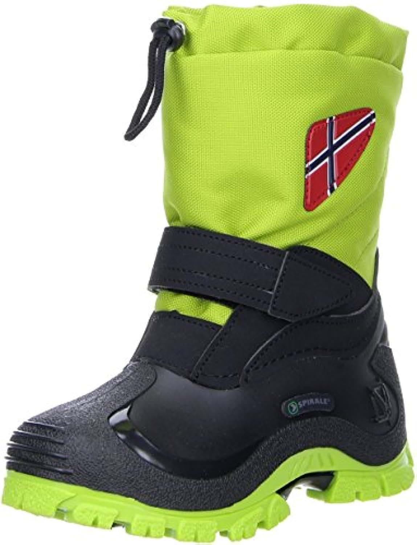 Spirale Boys' Morten Warm lined snow boots short length Green Size: 4 Child UK