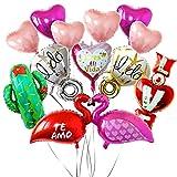 Ánimo Globos de fiesta para Decoración Balloon Set x12 Piezas Grandes con Buenas Letras para Cita Parejas San Valentín Boda Aniversario Enamorado Romántico