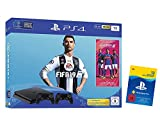 PlayStation 4 - Konsole (1TB, schwarz, slim) inkl. FIFA 19 + 2 DualShock Controller + PlayStation Plus 12 Monate Bundle