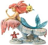 Enesco 4037501 Figurina Ariel su Roccia, Resina, Disney Tradition, Design di Jim Shore, 16 cm