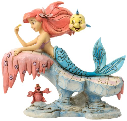 enesco-4037501-figurina-ariel-su-roccia-resina-disney-tradition-design-di-jim-shore-16-cm
