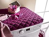meradiso Waschmaschinen-Bezug-Überzug-Abdeckung-Schutz Universal 60x60 cm dunkel lila