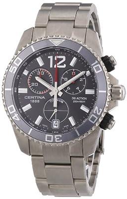 Certina-C013.417.44.087.00's Watch Quartz Chronograph Stopwatch with Strap-Grey Titanium