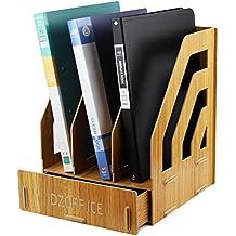 gossipboy desmontable diseño de grano de madera Escritorio de la oficina A4 archivo de escritorio DIY