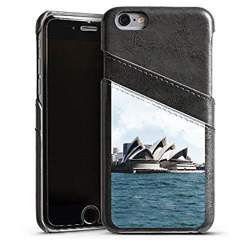Apple iPhone 6 Housse Étui Silicone Coque Protection Sydney Australie Opéra Étui en cuir gris