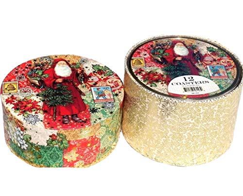 Punch Studio Weihnachten Box Untersetzer in Andenken Snackverpackung # 56153Weihnachten Viktorianischer (In Studio A Box)