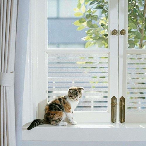 Fensterschutzfolie, 40cm x 150cm, zur Dekoration und Sichtschutz für Büro, fensterfolie selbstklebend, FANCY-FIX