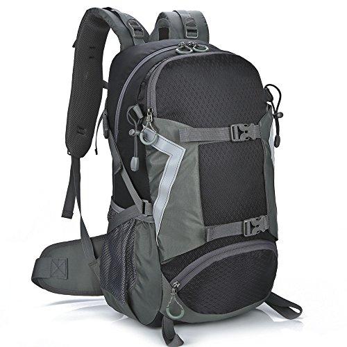 X2X Outdoor Freizeit Sport Pack Rucksäcke, 30L Multifunktions Reisen Klettern Camping Wandern Bergsteigen Tasche 2Schwarz