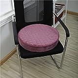 Bozenghoey Erhöhung Des Sitzkissens, Bürostuhl, Auto Sitzkissen, Runde Schwamm Kissen, 45 X 45 Cm, Violett Schwamm, Rund Lila