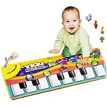 Fengh nuevo juego táctil teclado cantar música gimnasio alfombra bebé niños Cute alfombrilla