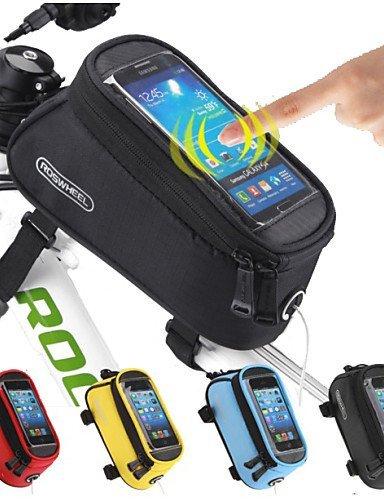 ZQ Fahrradrahmentasche ( Gelb / Rot / Schwarz / Blau , PU Leder / PVC / Terylen ) Wasserdicht / tragbar / Touchscreen Radsport Black