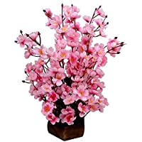 DecoratingLives Pink Assorted Artificial Flower with Pot