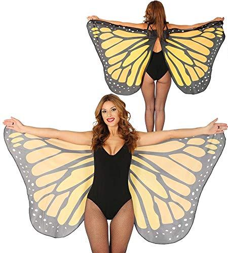 Schmetterling Damen Kostüm - Fiestas Guirca Schmetterlingsflügel aus Stoff 170x80 cm