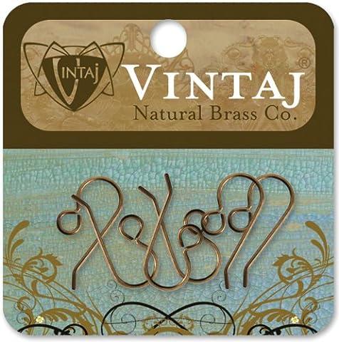 Vintaj 6-Piece French Ear Wires for Earrings, 20 by 10mm by Vintaj