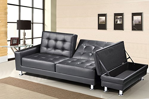 new-contemporary-modern-knightsbridge-faux-leather-storage-ottoman-fold-down-sofa-bed-in-black
