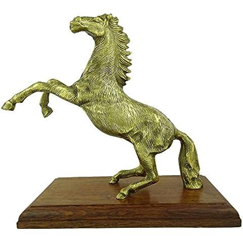 Embellish Décor el caballo de salto base de madera Estatuilla de energía encanto afortunado vector de la estatua