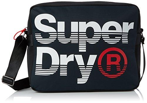 Superdry Uomo Borsa Messenger Premium Lineman, Blu Blu (Navy/Optic)