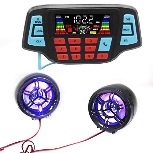 Qiyan Motorrad Audio-Freisprecheinrichtung Bluetooth Stereo-Lautsprecher FM-Radio-Sound-System-Zubehör wasserdichte Motor MP3-Musik-Player in Motorrad-Audio