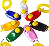 Fully 7 Farbe Set Haustier Hundeklicker Klicker Ausbildung mit Spiralkabel Training Hunde