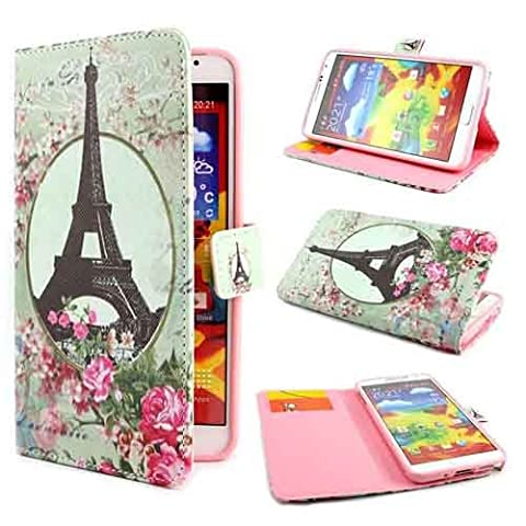 Etui Flip Cover Galaxy Note 3 - Semoss Retro Design Eiffel Tour PU Cuir