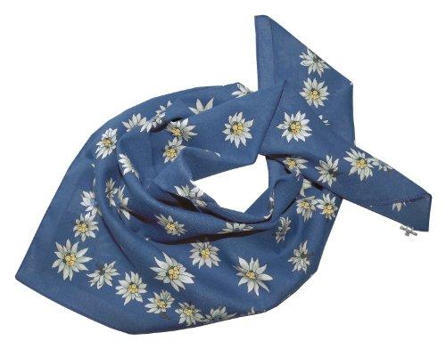 Moschen-Bayern Damen Herren Trachtenhalstuch Halstuch Blau