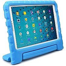 Samsung Galaxy Tab A 10.1 Funda de niños, COOPER DYNAMO Funda dura protectora para choques y uso pesado para niños con agarre de mano, estante trasero y protector de pantalla incluido (Azul)