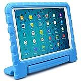 Samsung Galaxy Tab A 10.1 (S Pen) Funda de niños, COOPER DYNAMO Funda dura protectora para choques y uso pesado para niños con agarre de mano, estante trasero y protector de pantalla incluido (Azul)