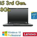 """Notebook Lenovo Thinkpad T430 Core i5-3320M 8Gb 320Gb 14"""" WEBCAM DVDRW Windows 10 Professional (Ricondizionato Certificato)"""