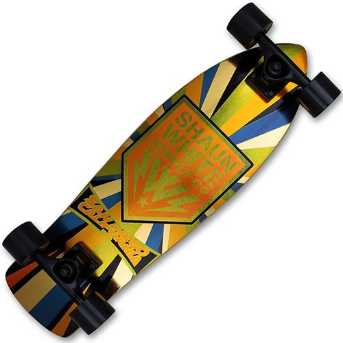 XQmax Skateboard Shaun White Airwalk Cruiser Gold/Orange -
