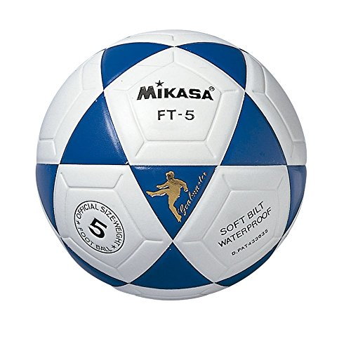 Mikasa Ft-5 Pallone Calcio, Bianco/Blu, 5