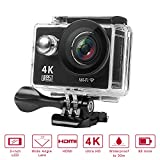 URBST Action Kamera 4K Wifi Ultra HD 12MP 30M Wasserdicht DV Camcorder 170 Grad Weitwinkel Objektiv Sport Kamera 2 Zoll LCD-Bildschirm mit Zubehör Kit für Outdoor