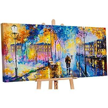 Ys Art Acryl Gemalde Romantischer Abend Handgemalt 130x70cm