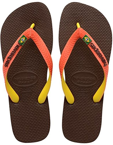 Havaianas Brasil Mix Infradito, Unisex-Adulto, Marrone (Dark Brown/Orange 4304), 41/42 EU (39/40 BR)