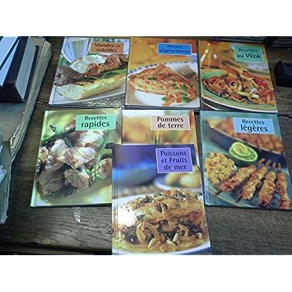Lot de 7 livres de recettes cuisine recettes légères - Pomme de terre - Recettes au Wok - recettes végétariennes - Poissons et fruits de mer - recettes rapides - viandes et volailles -