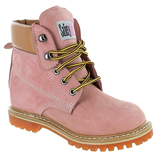 10 B(M) US : Safety Girl II Soft Toe Womens Work Boots - Light Pink