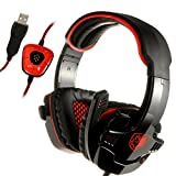Lychee Sades 901 Gaming Headset 7.1 Surround Sound Stereo USB-Steck