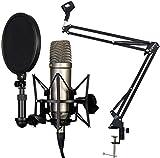 Rode NT1-A Set Kondensator Mikrofon + KEEPDRUM NB35 BK Tisch-Stativ Gelenkarm