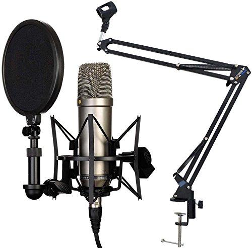 Rode NT1-A Juego condensador Micrófono Keepdrum 5-nb35brazo articulado de mesa trípode