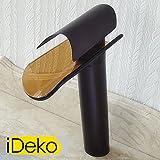 iDeko® Robinet Mitigeur lavabo robinet salle de bain cascade & Flexible Style Japonais