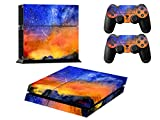 Stillshine Decal Full Body faceplates Skin Sticker For Sony Playstation 4 PS4 console x 1 and controller x 2 (meteor)